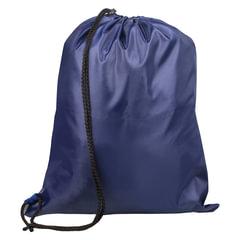 Сумка для обуви ТОП-СПИН для учеников начальной школы, 1 шнур с пластиковым фиксатором, синяя, 43×35 см