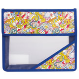 Папка для тетрадей, А5, пластиковая на липучке, с рисунком на уголке, «Арт искусство»