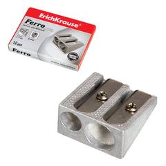 Точилка ERICH KRAUSE «Ferro Plus», 2 отверстия, металлическая клиновидная