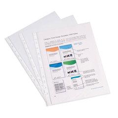Папки-файлы перфорированные, A4, ERICH KRAUSE, комплект 100 шт., гладкие, эконом, 0,03 мм