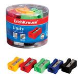 Точилка ERICH KRAUSE «Unity», пластиковая, прямоугольная, цвет ассорти