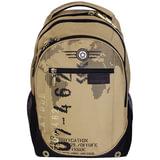 Рюкзак GRIZZLY для старшеклассников/<wbr/>студентов/<wbr/>молодежи, песочный, «Цифры», 25 литров, 28×44×21 см
