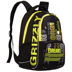 Рюкзак GRIZZLY для учеников средней школы, «Город», 22 литра, 32×42×20 см