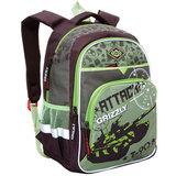Рюкзак GRIZZLY для учеников средней школы, «Танк», 23 литра, 30×40×18 см