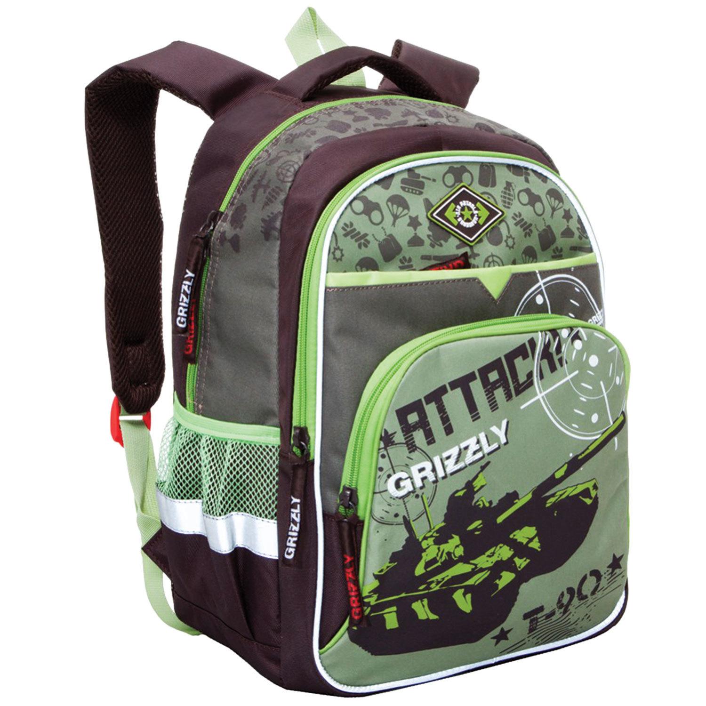 0ad4aaa9199b Рюкзак GRIZZLY для учеников средней школы, «Танк», 23 литра, ...