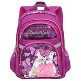 Рюкзак GRIZZLY для учениц начальной школы, «Котенок», 20 литров, 29×39×17 см