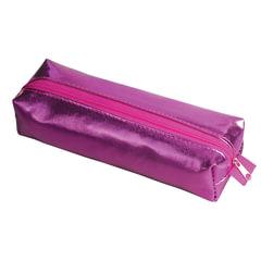 Пенал-косметичка BRAUBERG под искусственную кожу, «Винтаж», пурпурный, 20×6×4 см