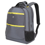 Рюкзак WENGER (Швейцария), универсальный, серый, желтые вставки, 28 литров, 46×33×19 см