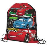 Сумка для обуви ТАЧКИ (Cars) для учеников начальной школы, красная, 43×34 см