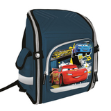 Ранец жесткокаркасный ТАЧКИ (Cars) для учеников начальной школы, 12 литров, 35×26×13 см