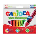 Восковые мелки утолщенные CARIOCA (Италия) «Maxi», 12 цветов, смываемые, картонная упаковка, подвес