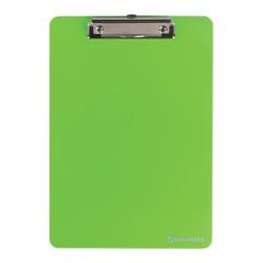 Доска-планшет BRAUBERG «Solid» с верхним прижимом, прочный ABS, А4, 315×225 мм, 2 мм, зеленая