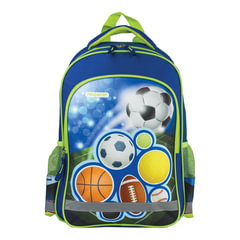 Рюкзак ПИФАГОР для учеников начальной школы, «Мячи», 38×28×14 см