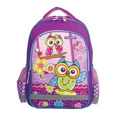 Рюкзак ПИФАГОР для учениц начальной школы, «Совятки», 38×28×14 см