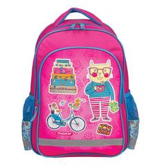 Рюкзак ПИФАГОР для учениц начальной школы, «Кот-турист», 38×28×14 см
