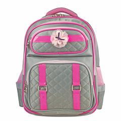 Рюкзак BRAUBERG для учениц начальной школы, «стеганый», девочка, «Грэй», 40×29×17 см