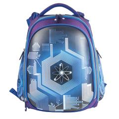 Ранец жесткокаркасный BRAUBERG для учеников средней школы, 2 отделения, «Атом», 38×28×12 см