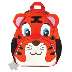 Рюкзак TIGER FAMILY (ТАЙГЕР) для дошкольников, оранжевый, «Tom The Tiger», 26×21×13 см, 5 литров