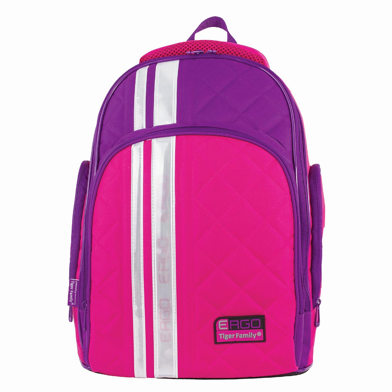 dd22a1630da5 ... Рюкзак TIGER FAMILY (ТАЙГЕР) с ортопедической спинкой для средней школы,  розовый/< ...
