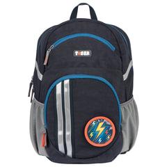 Рюкзак TIGER FAMILY (ТАЙГЕР) с ортопедической спинкой для средней школы, универсальный, «Cool Blue», 36×24×18 см