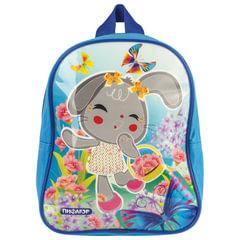 Рюкзак ПИФАГОР для дошкольниц, глянец, «Зайка с цветочками», 25×20×10 см