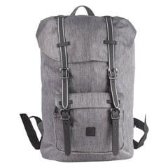 Рюкзак BRAUBERG молодежный с отделением для ноутбука, «Кантри», серый меланж, 41×28×14 см