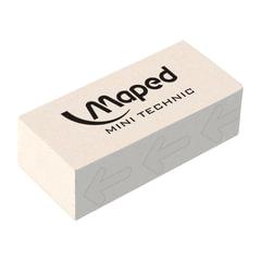Резинка стирательная MAPED (Франция) «Technic Mini», 39×18, 2×12,6 мм, белая, дисплей