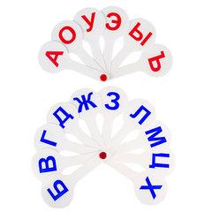 Веер-касса (гласные, согласные) ПИФАГОР, набор 2 шт., европодвес