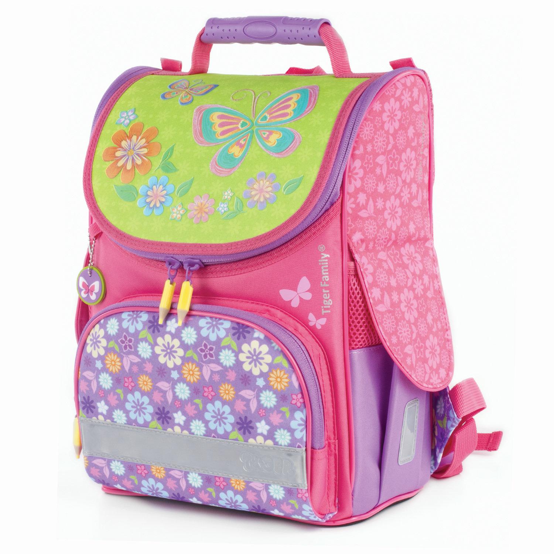ba0da88c26d1 Ранец TIGER FAMILY (ТАЙГЕР) для начальной школы, Nature Quest, девочка,  Цветочный ...