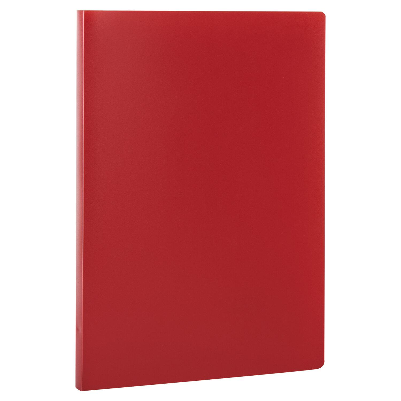 Анонс-изображение товара папка с пластиковым скоросшивателем staff, красная, до 100 листов, 0,5 мм, 229229