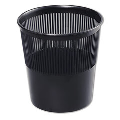 Корзина для бумаг СТАММ, сетчатая, 9 л, черная