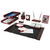 Набор GALANT настольный из дерева, 10 предметов, красное дерево, двойной лоток, часы, фоторамка