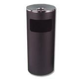 Урна металлическая с пепельницей, 600×250 мм, черная