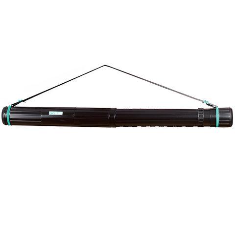 Тубус для чертежей СТАММ телескопический, диаметр 9 см, 70-110 см, черный, на ремне