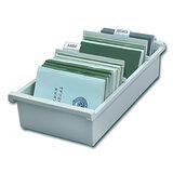 Картотека пластиковая HAN (Германия), А6, открытая, горизонтальная, на 1300 карточек, 148×105 мм, серая
