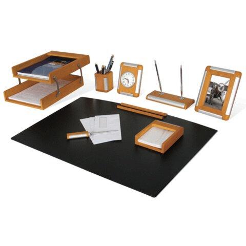 Набор GALANT настольный из дерева, 8 предметов, бук, двойной лоток, часы, фоторамка