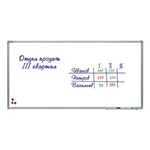 """Доска магнитно-маркерная """"2х3"""" (""""Дважды три"""", Польша), лаковое покрытие, алюминиевая рамка, 90х180 см"""