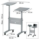 Подставка для проектора и ноутбука NOBO, регулировка высоты (120×86×56 см) (АССО Brands, США)