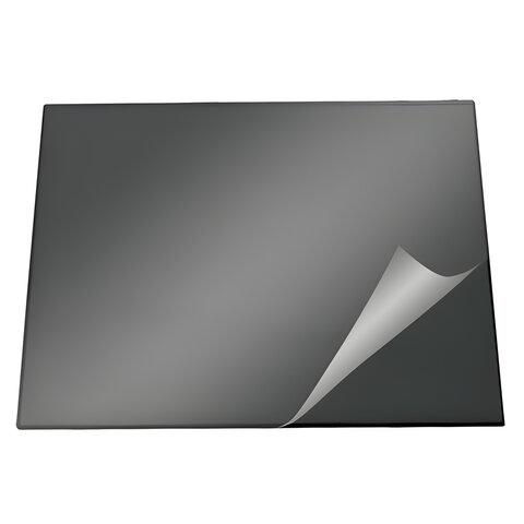 Коврик-подкладка настольный для письма DURABLE (Германия), c прозрачным листом, 52×65 см, черный
