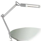 Светильник настольный КТ008С на струбцине, люминесцентный, 11 Вт, белый, высота 60 см, 2G7
