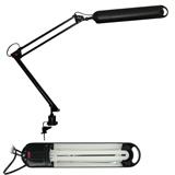 Светильник настольный КТ008С на струбцине, люминесцентный, 11 Вт, чёрный, высота 60 см, 2G7
