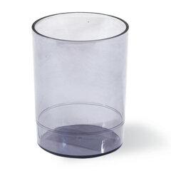 Подставка-органайзер СТАММ «Офис» (стакан для ручек), 70×70×90 мм, тонированная, серая
