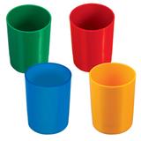 Подставка-органайзер СТАММ (стакан для ручек), 70×70×90 мм, ассорти, 4 цвета