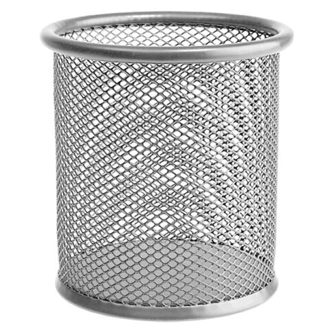 Подставка-органайзер ERICH KRAUSE, металлическая, круглое основание, серебристая