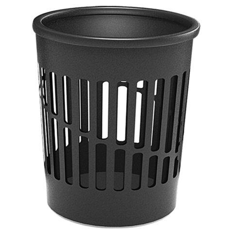 Корзина для бумаг ERICH KRAUSE, средняя сетчатая, 12 литров, черная