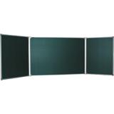 Доска для мела магнитная BOARDSYS, 100×150/<wbr/>300 см, 3-элементная, 5 рабочих поверхностей, зеленая