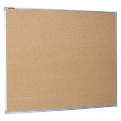 Доска пробковая BOARDSYS для объявлений, 100×120 см, металлическая рамка