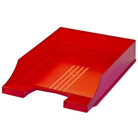 Лоток горизонтальный для бумаг BRAUBERG «Energy» (БРАУБЕРГ «Энерджи»), тонированный красный