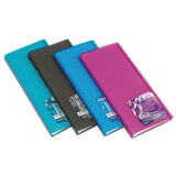 Визитница трехрядная ERICH KRAUSE «Vivid colors» на 96 визиток, пластиковая обложка, ассорти
