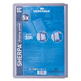 Панели для демосистем DURABLE (Германия) SHERPA, комплект 5 шт., графитно-серая рамка А4